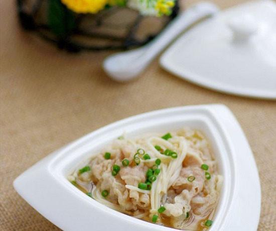 hướng dẫn cách nấu ăn ngon hàng ngày, Bữa cơm thanh đạm với canh thịt nấm