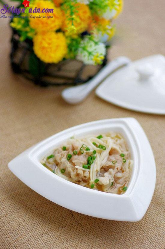 cách làm canh thịt nấm 1