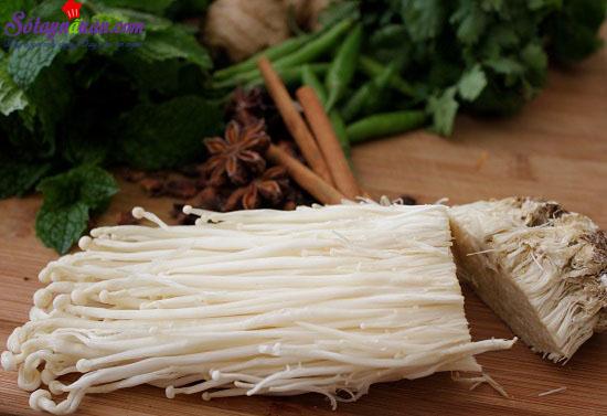 cách làm canh thịt nấm 2