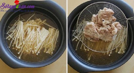 cách làm canh thịt nấm 6