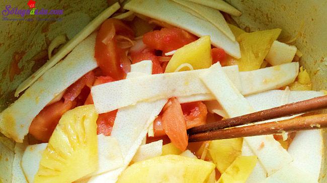 cách làm riêu chua chả cá thanh mát 4