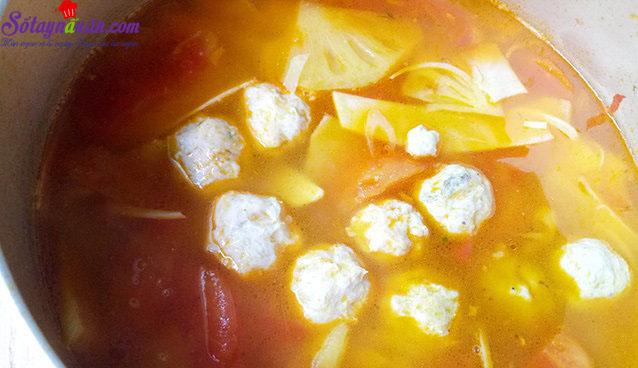 cách làm riêu chua chả cá thanh mát 5