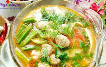 Nấu ăn, cách làm riêu chua chả cá thanh mát 7