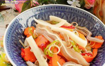 dạy nấu ăn ngon, cách làm tai heo ngâm chua ngọt 1
