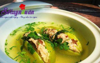 hướng dẫn cách nấu ăn ngon hàng ngày, Ngọt mát với canh khổ qua nhồi thịt thơm ngon