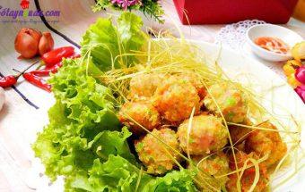 dạy nấu ăn ngon, cách làm chả tôm thịt nhân phô mai 7