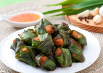 Cách làm thịt gà cuộn lá dứa thơm ngon kiểu Thái
