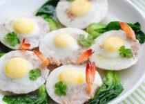 Tôm thịt hấp trứng cút ngon miễn chê