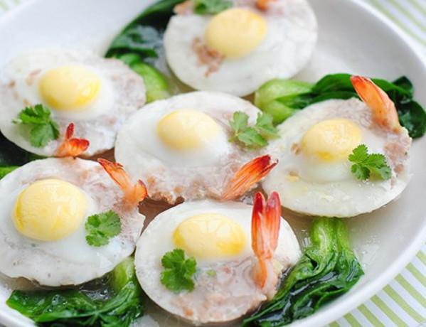 hướng dẫn cách nấu ăn ngon hàng ngày, Tôm thịt hấp trứng cút ngon miễn chê