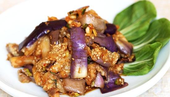 Nấu ăn, Cà tím hấp kiểu Hàn ngon hấp dẫn