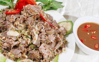 Nấu ăn món ngon mỗi ngày với Vừng trắng rang vàng, Lợn mán tái chanh - Sotaynauan.com